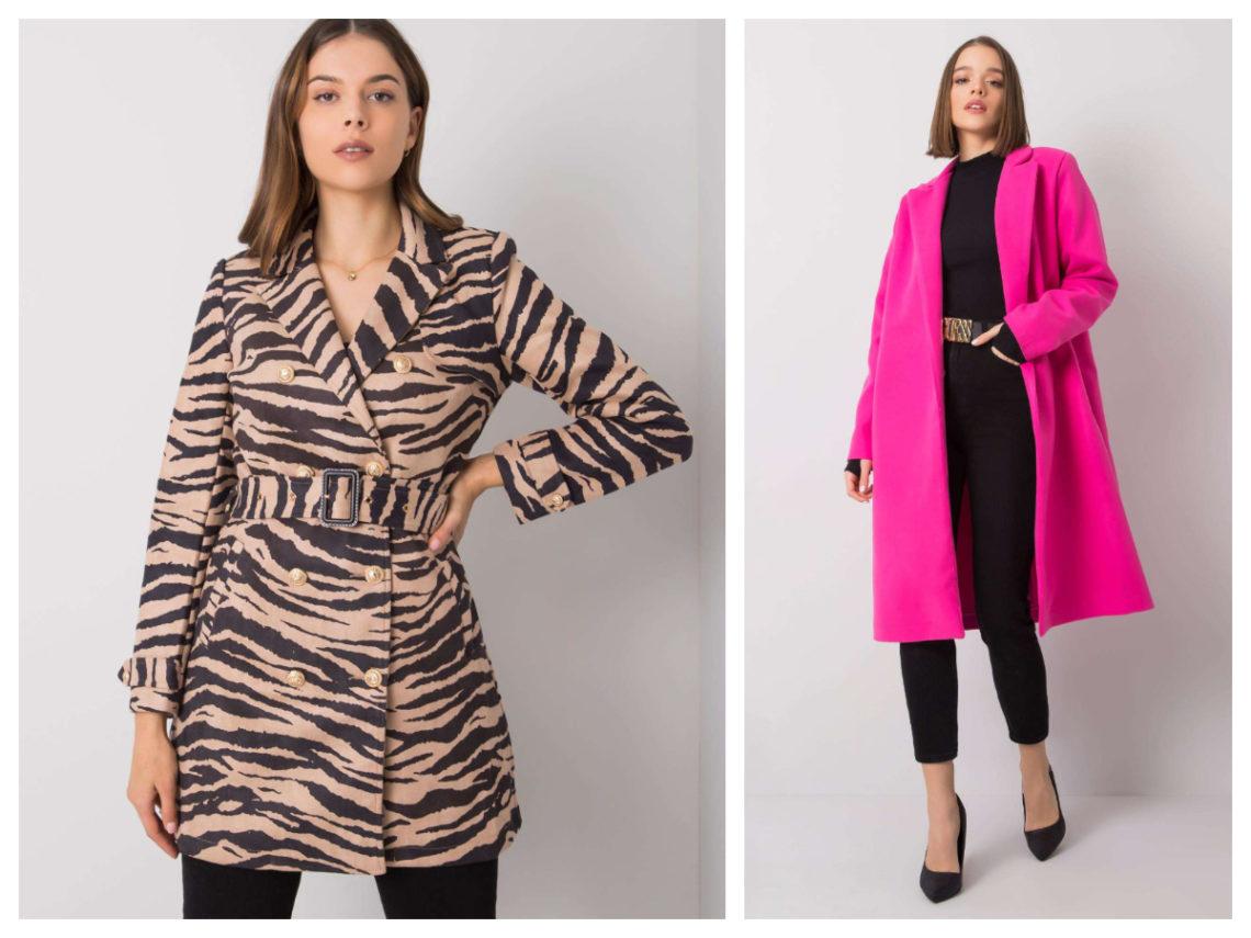 Idealny płaszcz na wiosnę różne wzory
